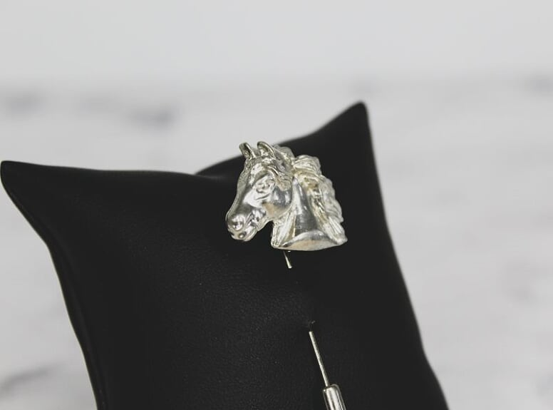 Stallion Head Lapel Pin