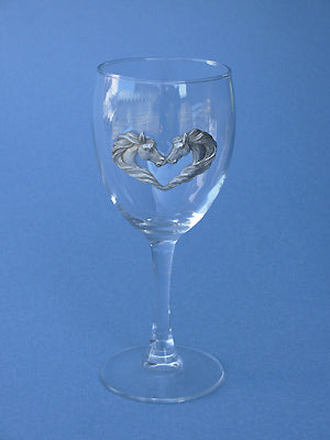 Horse Hearts Wine Glass
