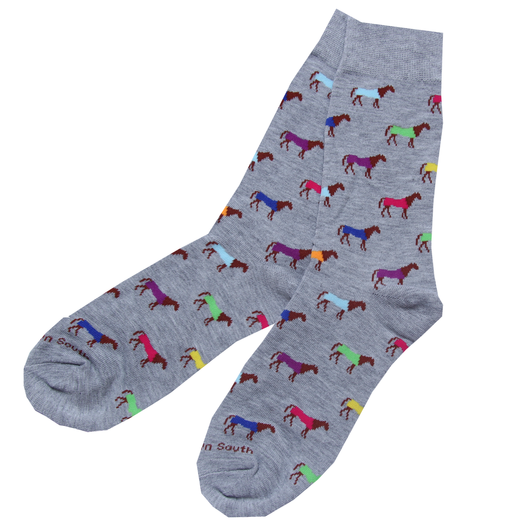 Multi Colour Horse Socks