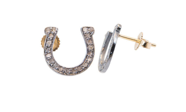 Diamond Horse Shoe Earrings