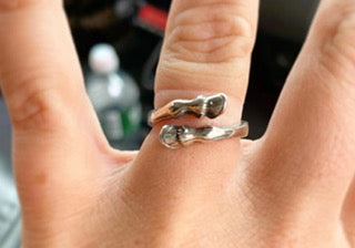 Sterling Silver Double Hoof Ring