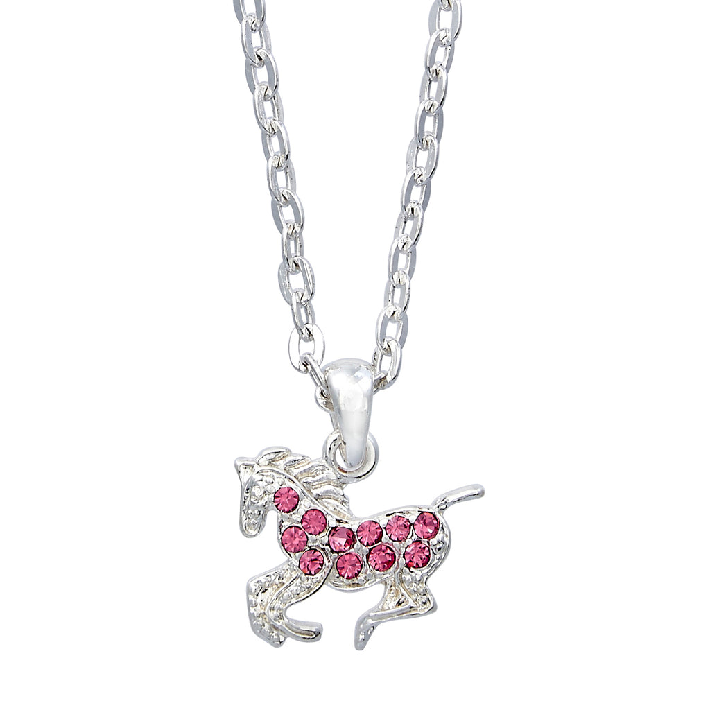 Pink Horse Necklace in Gift Box
