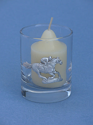 Single Racehorse Glass Votive