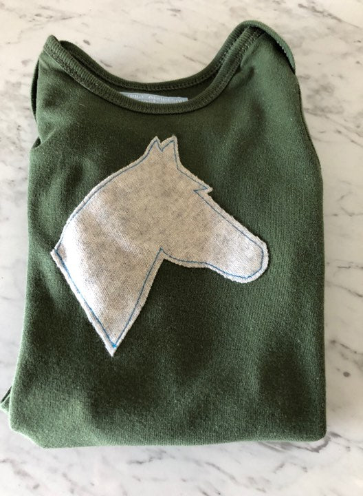 Green/ Grey Infant Body Suit