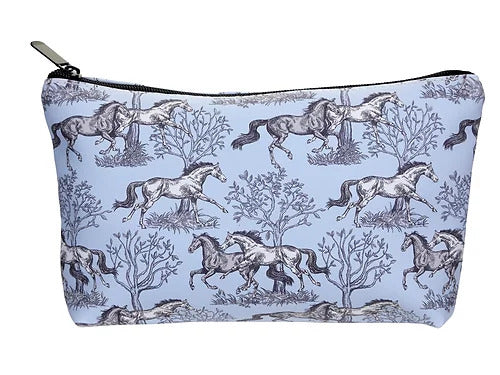 Blue Toile Cosmetic Case
