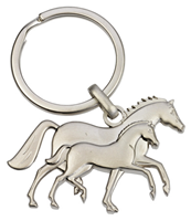Mare & Foal Key Ring
