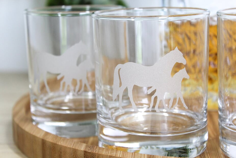 Mare & Foal  Glass Tumbler Set
