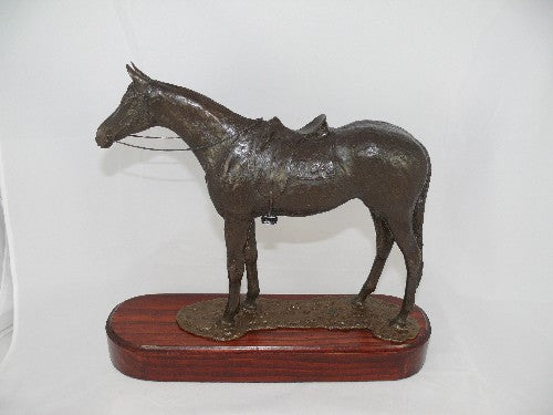 Mary Pinsent - Stock Horse Standing Statue