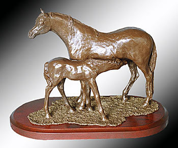 Mary Pinsent - Welsh Mare and Foal Statue