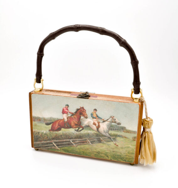 "The ""Off to the Races"" Derby Clutch"