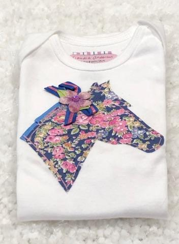 Pink & Blue Liberty Infant Body Suit