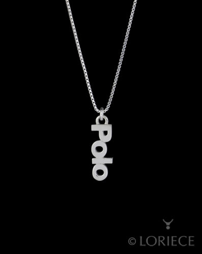 Polo Text Necklace