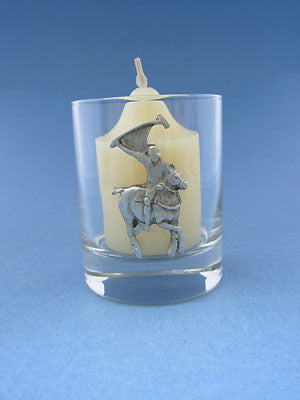 Polo Horse Glass Votive Holder
