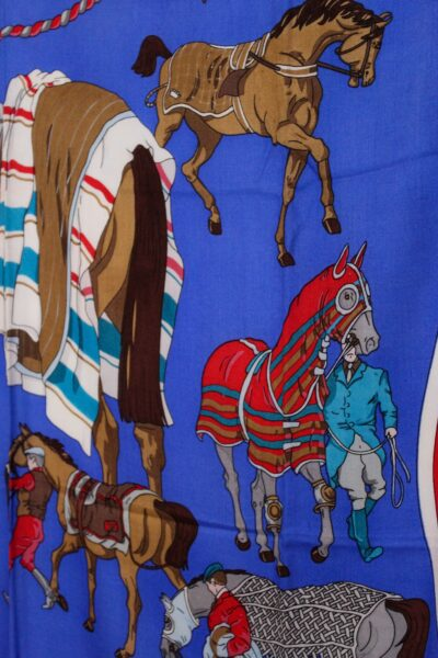Race Horse Themed Scarf Royal Blue