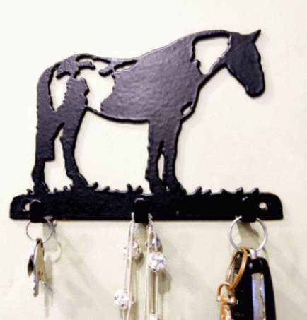 Custom 3 Hook Key Rack