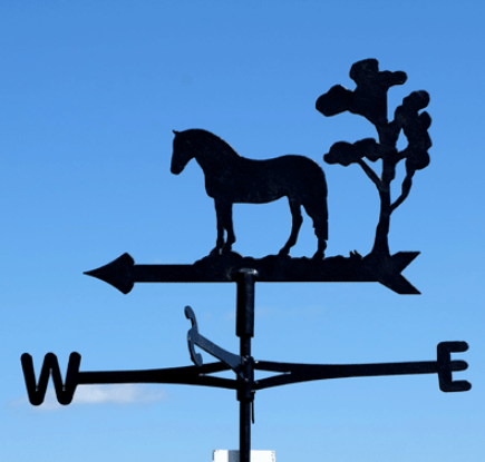Custom Equine Cottage Weathervane
