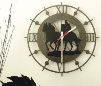 Custom Equine Wall Clock