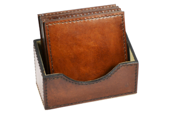 Leather Square Coasters