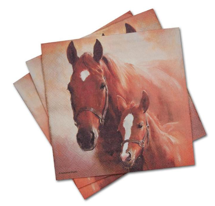 Paper Lunch Napkins- Mare & Foal