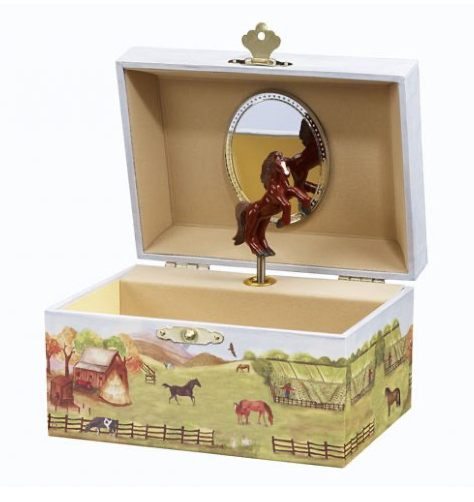 Country Horse Music Box Small