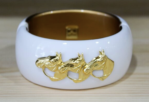 Large Horse Head Cuff -White