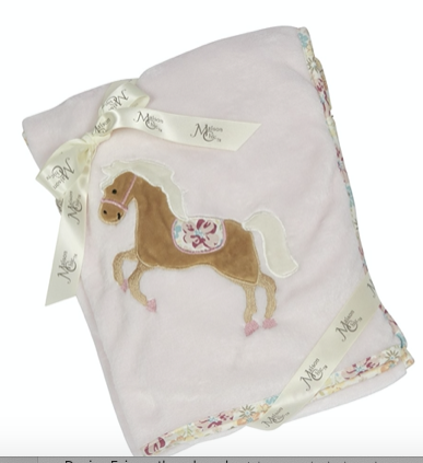 Nellie The Horse Plush Blanket