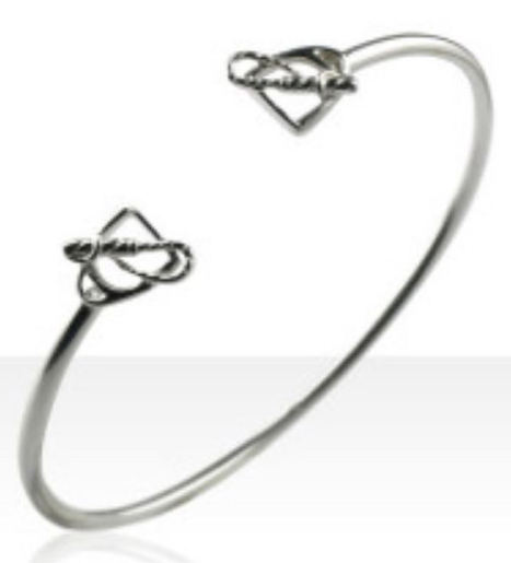 Sterling Silver Stirrup & Whip Cuff
