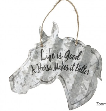 Life Is Good .. A Horse Makes It Better Metal Sign