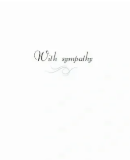 Sympathy Card, Sometimes there are no words.