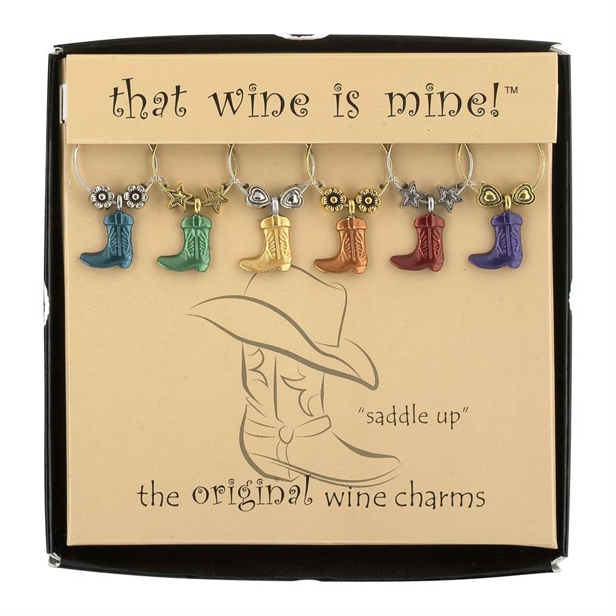 Boot Wine Charms