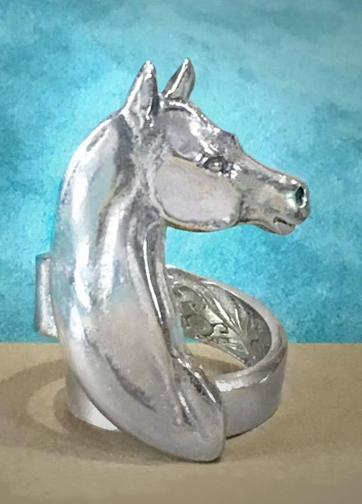 Arabian Horse Head Ring