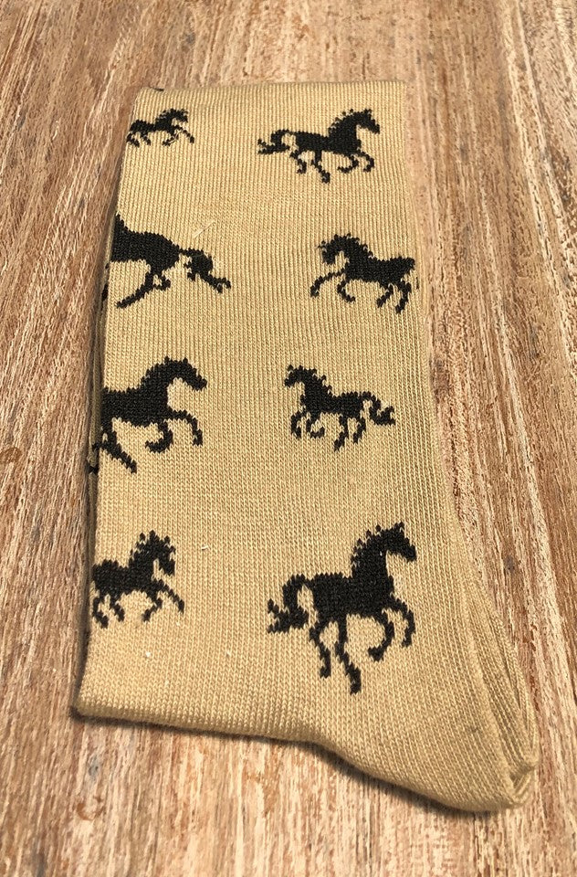 Horses All Over Socks Single Pair