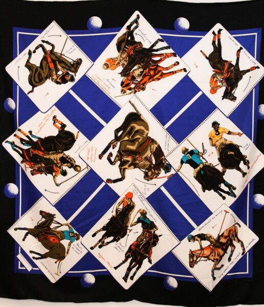 Polo Silk Scarf Blue