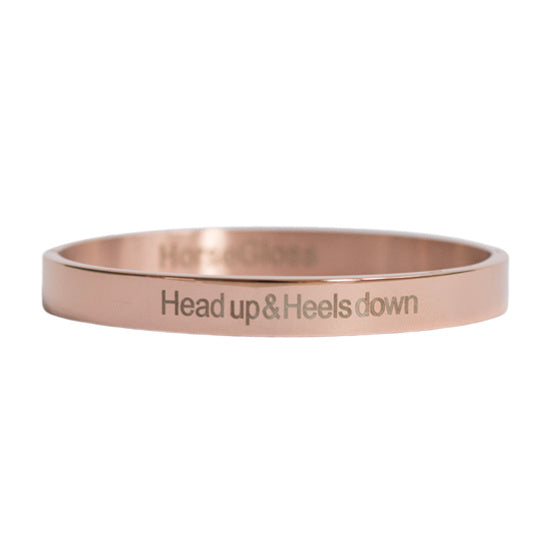 Head Up Heels Down Bangle