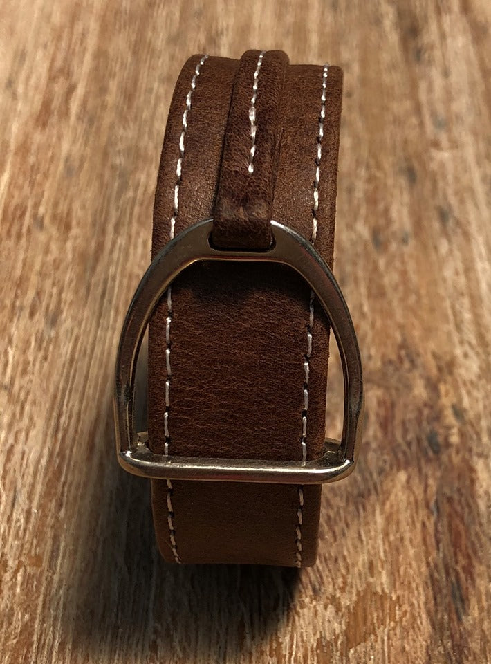 Leather Stirrup Cuff