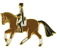 Brown Dressage Lapel Pin
