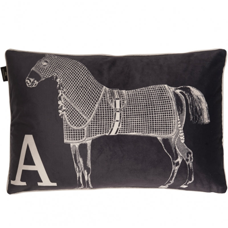 Grey Horse  Cushion