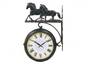 Double Sided Outdoor Clock