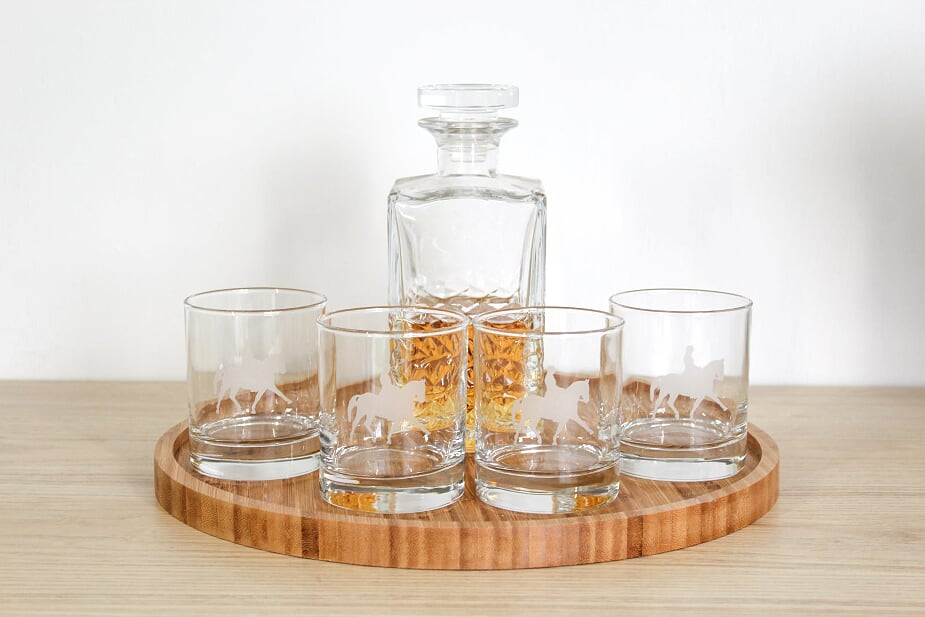 Dressage Glass Tumbler Set