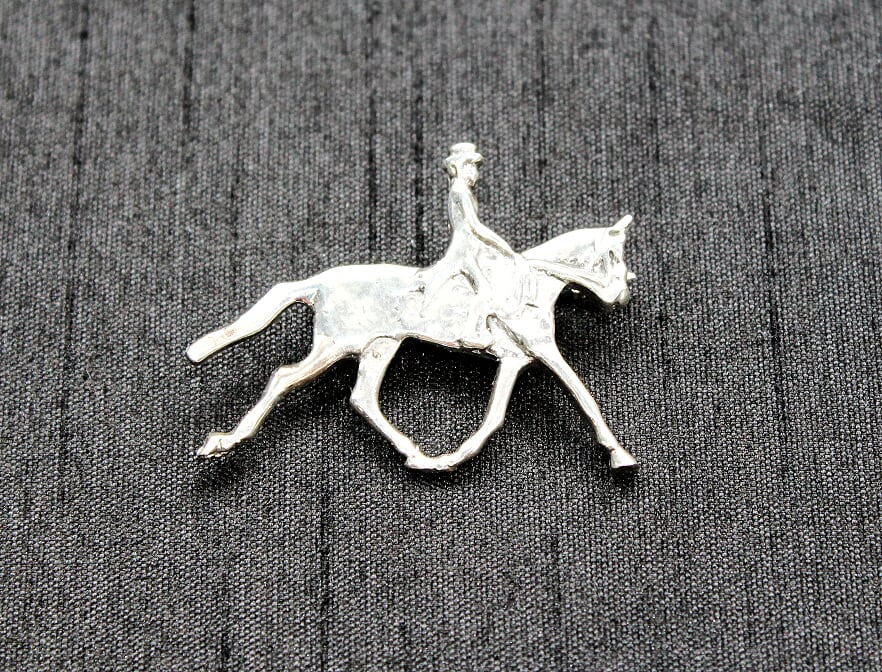 Dressage Sterling Silver  Brooch
