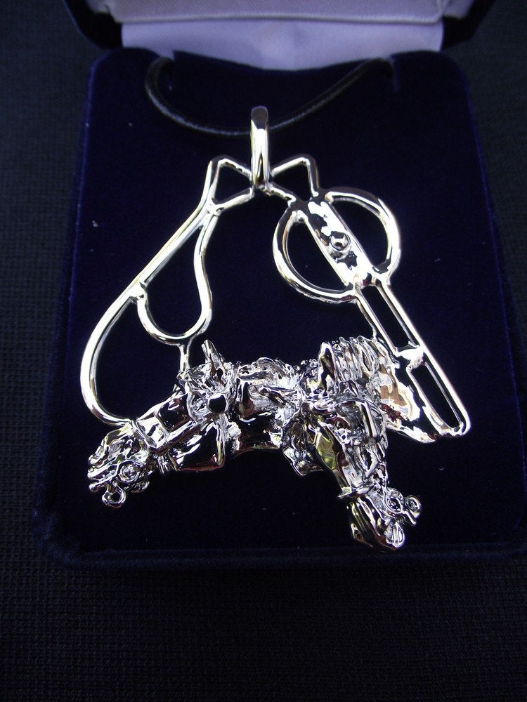 Driving Horse with Liverpool and Butterfly Bits Necklace