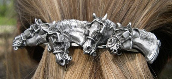 Driving Horse Barrette
