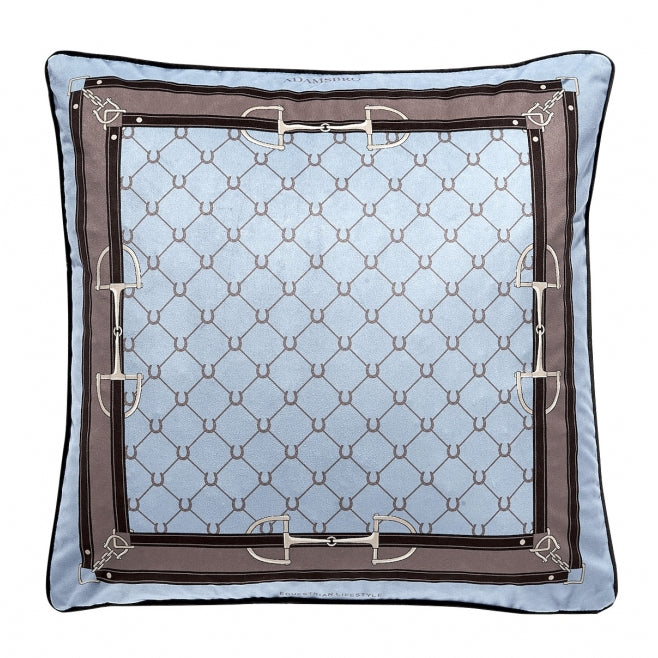 Pale Blue Snaffles and Shoes Cushion,