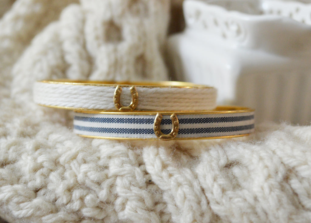 Blue Stripe Bangle