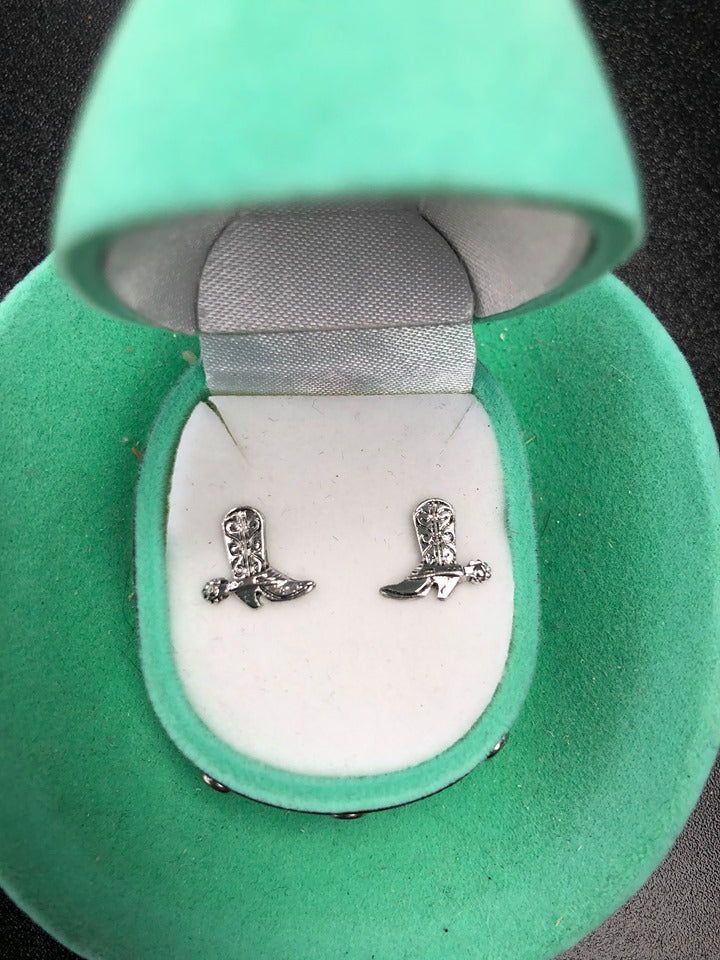 Cowboy Boot Earrings in Cowboy Hat