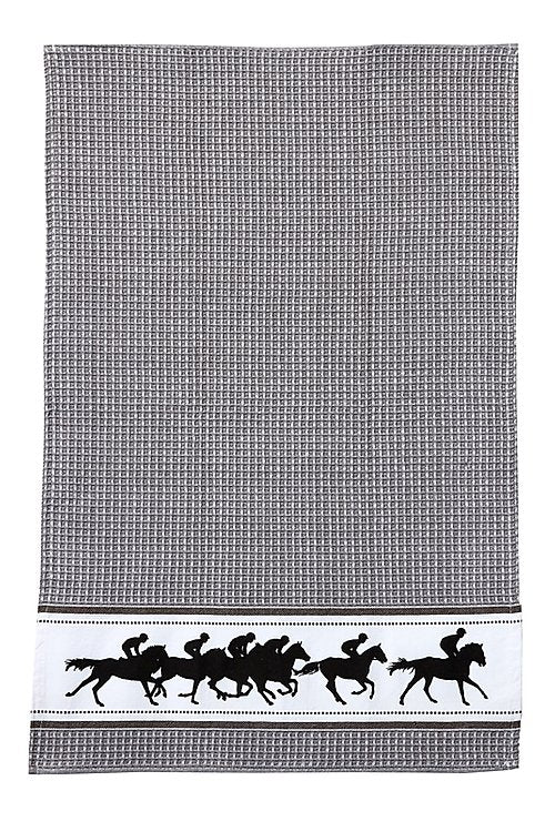 Grey Racehorse Tea Towel