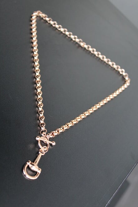 Rose Gold Half Snaffle Bit Necklace