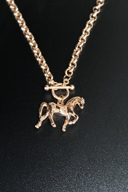 Rose Gold Horse Necklace