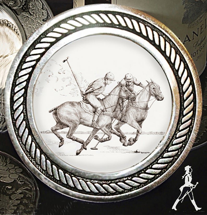 Polo Players Coaster Set