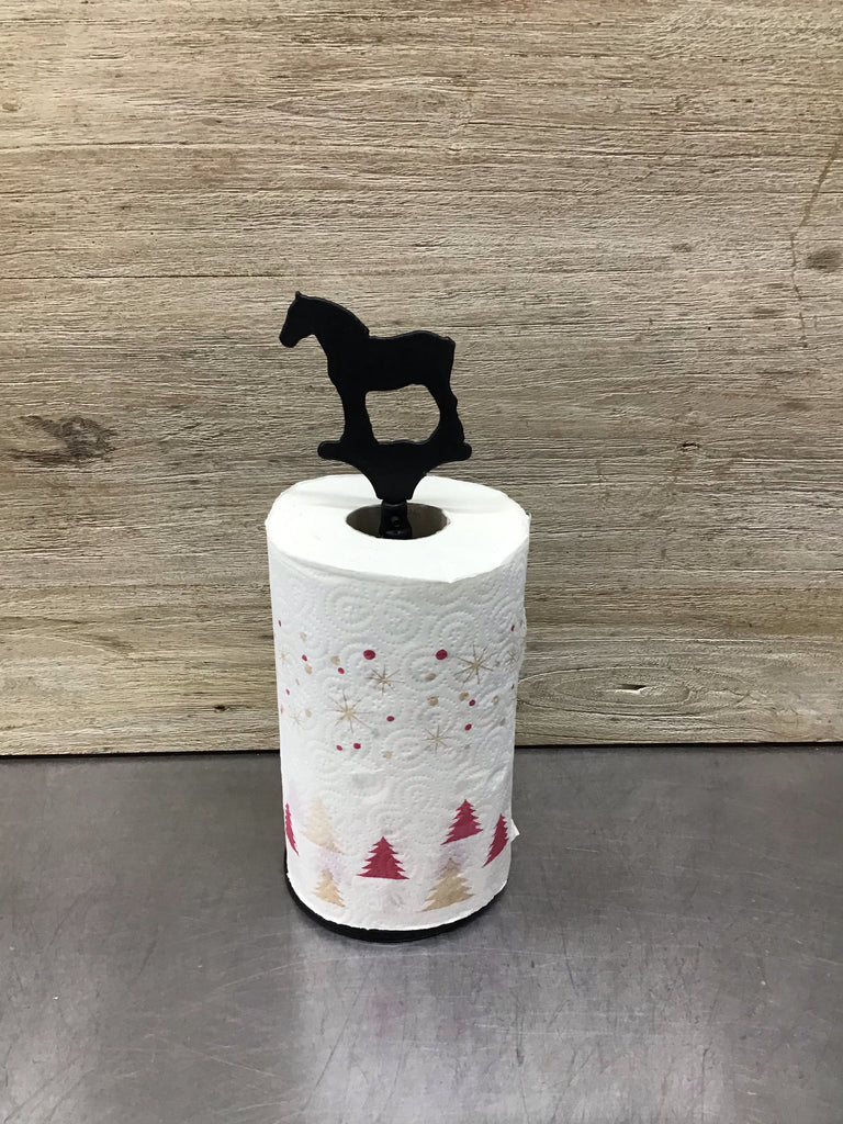 Clydesdale Horse Paper Towel Roll Holder